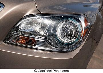 Car Headlight Detail