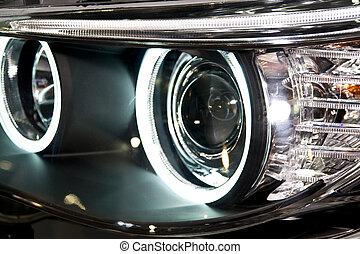 car headlight - Front headlight of a modern car
