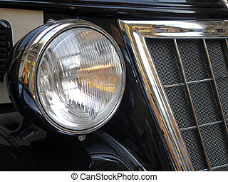 Car headlight - Antiq car headlight taken clouse-up...