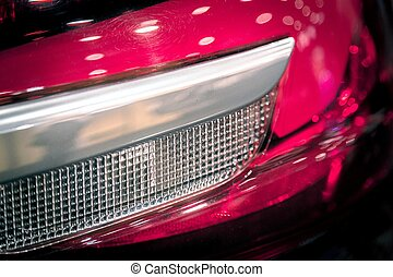 car headlights background