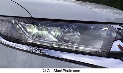 Car Headlights Flashing