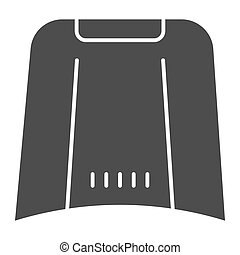 Car hood solid icon. Automobile bonnet vector illustration isolated on white. Car part glyph style design, designed for web and app. Eps 10.