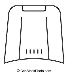 Car hood thin line icon. Automobile bonnet vector illustration isolated on white. Car part outline style design, designed for web and app. Eps 10.