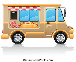 car hot dog fast food vector illustration vector ...
