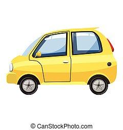 Car icon, cartoon style