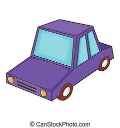 Car icon, cartoon style