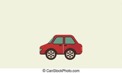 Car icon design, Video Animation