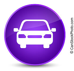 Car icon elegant purple round button