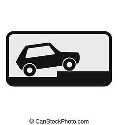 Car icon, flat style.