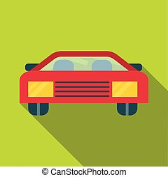 Car icon, flat style
