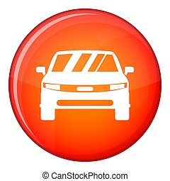 Car icon, flat style