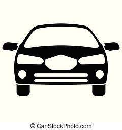 Car icon. Front view