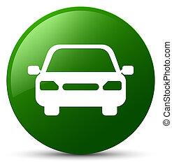 Car icon green round button