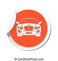 car, icon., ilustração, vetorial