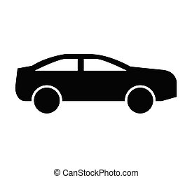 car icon in vector on white background