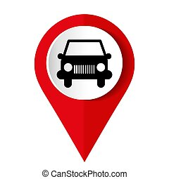 Car icon on a white background. Vector illustration.