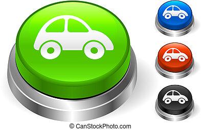 Car Icon on Internet Button Original Vector Illustration...