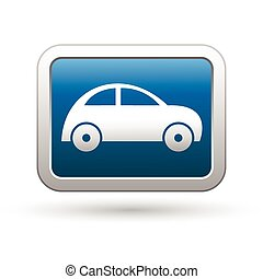 Car icon on the blue button
