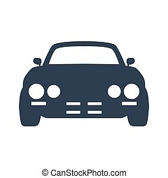 Car icon on white background.