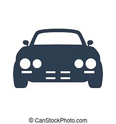 Car icon on white background.