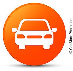 Car icon orange round button