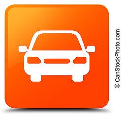 Car icon orange square button