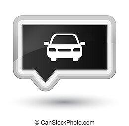 Car icon prime black banner button