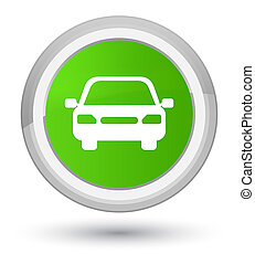Car icon prime soft green round button