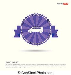 Car icon - Purple Ribbon banner