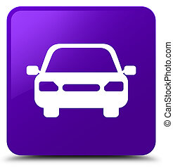 Car icon purple square button