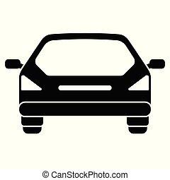 Car icon. Rear view