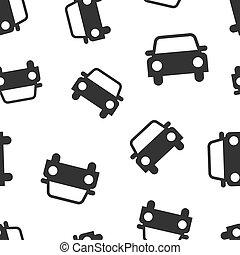 Car icon seamless pattern background. Automobile vector illustration. Auto symbol pattern.