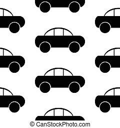 Car icon seamless pattern