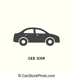 Car icon simple flat style vector illustration.
