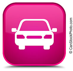 Car icon special pink square button