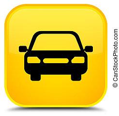 Car icon special yellow square button
