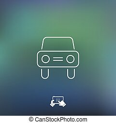 Car icon - Thin series