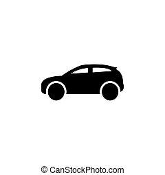 Car icon. Vector illustration black on white background