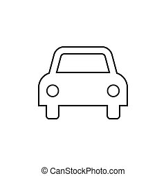 Car icon. Vector illustrations. Flat design graphic.
