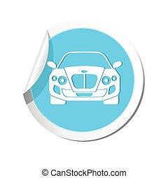 car, icon., vetorial, ilustração