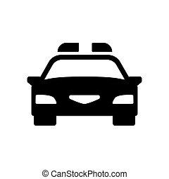 car, icon., vetorial, polícia