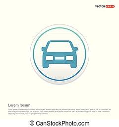 Car icon - white circle button
