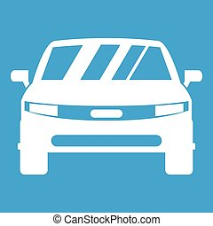 Car icon white