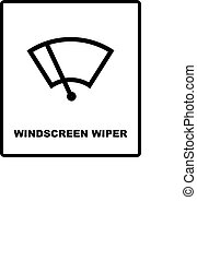 Car icon wiper. Vector illustration. - Windscreen wiper...