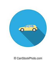Car icon with shadow