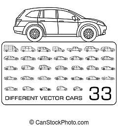 Car icons line