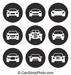 Car icons set