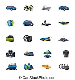 Car icons vector set