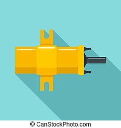 Car ignition bobbin icon, flat style