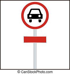car, -, ilustração, sinal, vetorial, vermelho